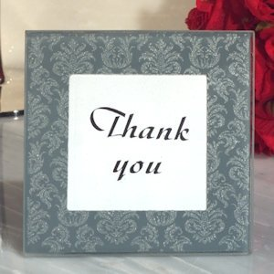 Classic Design Damask Glass Photo Frame image