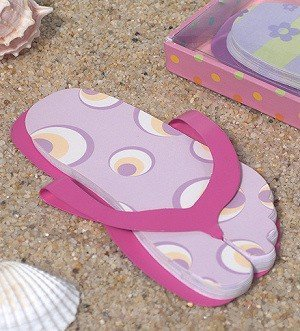 Flip Flop Shaped Note Pad - Pink image