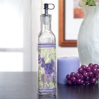 Grape Design Glass Oil Bottle