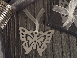 Butterfly Silhouette Bookmark Favor image