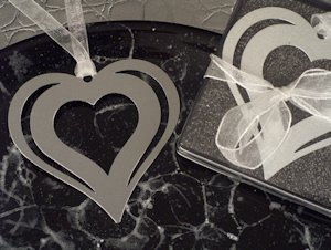 Double the Love Heart Bookmark Wedding Souvenirs image