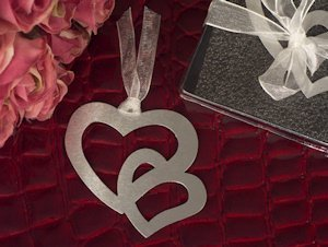 Entwined Hearts Wedding Bookmarks Favors image