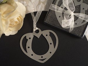 Love and Luck Horseshoe Bookmark Favors image