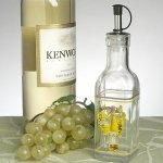 White Wine Design Small Olive Oil Bottle Favors