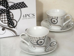 Mod Dots Petite Espresso Cup Wedding Favors image