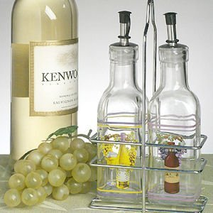 Europa Collection Wine Design Small Oil & Vinegar Set image