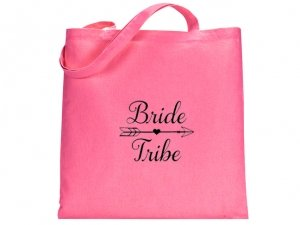 Bride Tribe Design Pink Tote Bag image