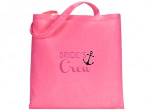 Brides Crew Design Pink Tote Bag image