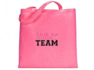 Brides Drinking Team Pink Tote Bag image