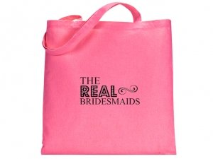 The Real Bridesmaid Design Pink Tote Bag image