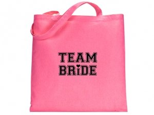 Team Bride Design Pink Tote Bag image
