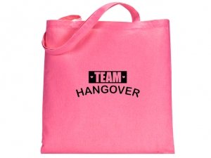 Team Hangover Design Pink Tote Bag image