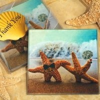 A Perfect Pair Beach Themed Glass Coasters