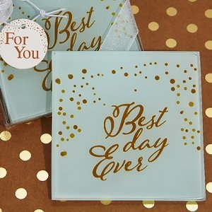 Our Best Day Ever Rustic Coaster Favors image
