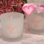 Round Sweet 16 Party Favor Candles