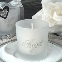 Silver Glitter Candle Sweet 16th Birthday Party Favors