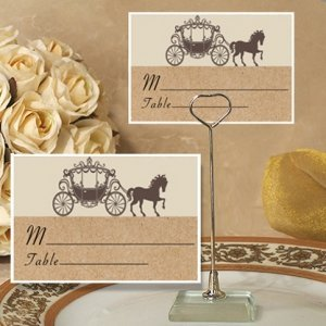 Rustic Coach Design Place Card with Metal Holder image