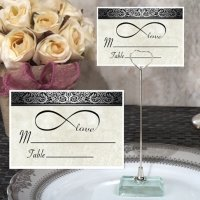 Infinite Love Place Card with Metal Place Card Holder