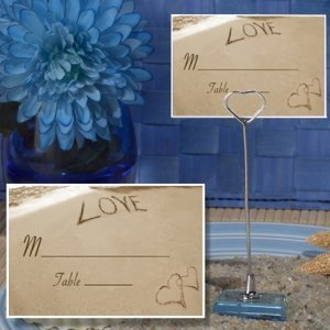 Love on the Beach Place Card with Metal Holder image