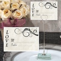 Stylish Love Place Card with Metal Place Card Holder