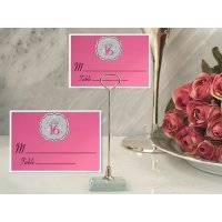 Sweet 16 Place Card with Metal Holder