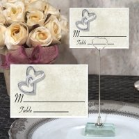Hearts Entwined Place Card with Metal Holder