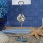 Silver Seashell Place Card Holders