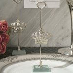 Silver Royal Crown Place Card Holders