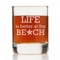 Life is Better At The Beach Rock Glasses (Set of 4)