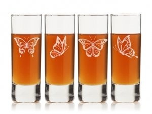 Butterflies Tall Shot Glass (Set of 4) image