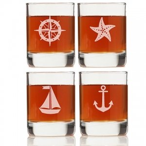 Nautical Collection Rock Glasses (Set of 4) image