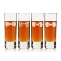 Bowties Collection Tall Shot Glass (Set of 4)
