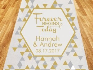 Forever Begins Today Personalized Wedding Aisle Runner image
