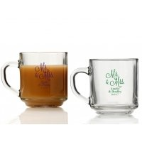 Mr. and Mrs. Personalized Glass Coffee Mugs