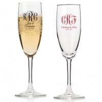 Intertwined Monogram Personalized Champagne Flutes