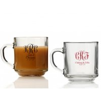 Intertwined Monogram Personalized Glass Coffee Mugs