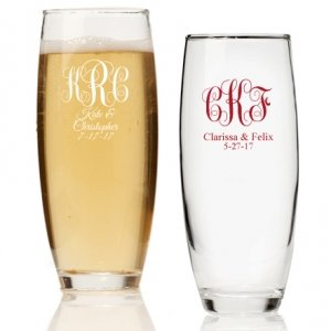 Intertwined Monogram Personalized Stemless Champagne Glass image