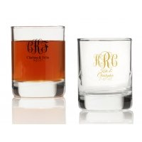 Intertwined Monogram Personalized Votives or Shot Glass