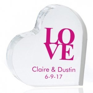 Love Personalized Heart Cake Topper image