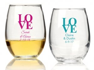 Love Personalized 9 oz Stemless Wine Glass image
