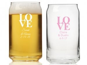 Love Personalized Can Glass image