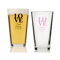 Love Personalized 16 oz Pint Glass