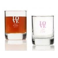 Love Personalized Votives or Shot Glass