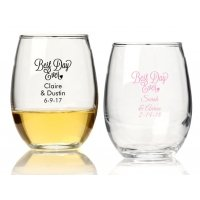 Best Day Ever Personalized 15 oz Stemless Wine Glass