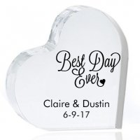 Best Day Ever Personalized Heart Cake Topper