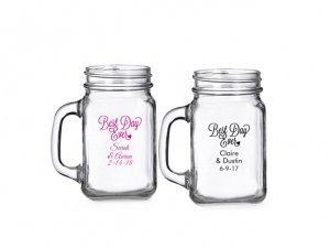 Best Day Ever Personalized Mini Mason Glass image