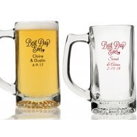 Best Day Ever Personalized Beer Mugs