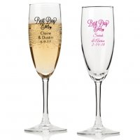 Best Day Ever Personalized Champagne Flutes