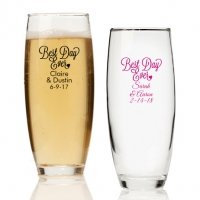 Best Day Ever Personalized Stemless Champagne Glass