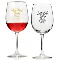 Best Day Ever Personalized Wine Glass